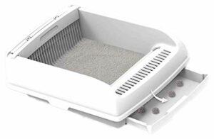TYUIOO Boîte à litière Semi-Automatique de la boîte à litière Semi-Automatique de la boîte à litière de Chat Semi-fermée