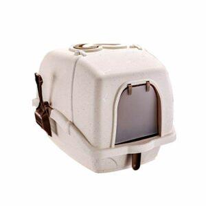 TYUIOO Boîte de litière Chat complètement fermée, Toilettes Chat de Pot pour Animaux de Compagnie, adaptée aux Chats de Moins de 10 kg-41.5cmx58cmx43cm