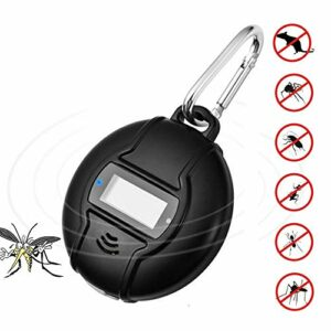 WETERS Ultrasons Animaux antiparasite, Mosquito électronique Portable Outdoor Repeller, Hook Type Type Solaire antiparasite, Solaire ultrasonique Pest Control