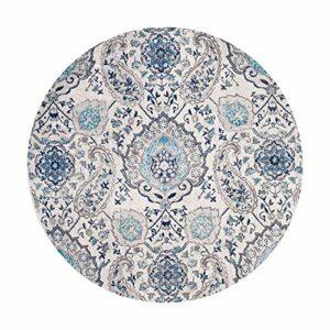 WHSS Style Bohème Américain Style Rétro Folklorique Tapis Rond Doux Et Confortable Maison Chambre Chevet Ordinateur Chaise Pivotante Pied Tapis (Size : 160)