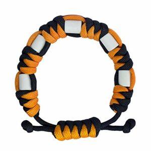Bracelet anti-tiques en paracorde naturelle avec céramique EM, durable, contrôle des tiques sûr pour enfants et adultes, bracelet unisexe réglable (agrumes)