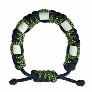 Bracelet anti-tiques en paracorde naturelle avec céramique EM, longue durée, contrôle sûr des tiques pour enfants et adultes, bracelet réglable unisexe (Gaia)