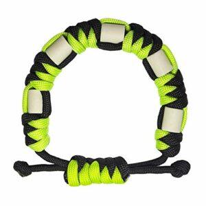 Bracelet anti-tiques en paracorde naturelle avec céramique EM, longue durée, contrôle sûr des tiques pour enfants et adultes, bracelet unisexe réglable (Citron vert)