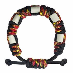 Bracelet anti-tiques en paracorde naturelle avec céramique EM, longue durée, contrôle sûr des tiques pour enfants et adultes, bracelet unisexe réglable (Jamaïque)