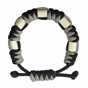 Bracelet anti-tiques en paracorde naturelle avec céramique EM, longue durée, contrôle sûr des tiques pour enfants et adultes, bracelet unisexe réglable (support)