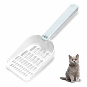 CATISM Pelle à Litière pour Chat avec Stockage Magnétique Pelles à Litière Plastique ABS Robuste avec Long Poignée Conçue pour Les Propriétaires de Plusieurs Chats