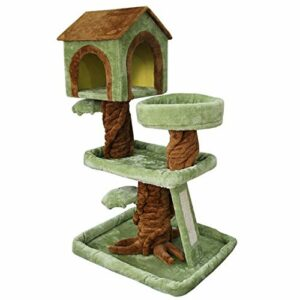 Chat escalade cadre Leikegong chat plate-forme de saut de chat de chat de chat de chat post chat litière chat arbre chat chat chat cadre tout-en-un chat fournitures, villa de chat de chat de chat adap