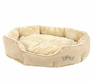 Dehner Hunde- und Katzenbett Sammy, Ovale, Polyester