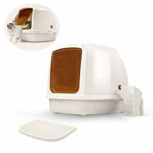 Entièrement clos litière for chats, toilettes Boîte grand chat supplémentaire résine translucide rideau facile à nettoyer Fournitures de litière for animaux de compagnie de chat for les chats multiple