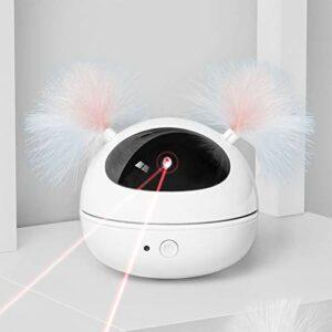 FAONL Jouets de Chat Chaton Jouets, drôle de Chat de Chat Plume Automatique Jouet de Chat électrique White