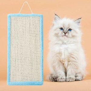 GOTOTOP Conseil à gratter pour Chat, Chaton Sisal Suspendu à gratter Chat Griffe meulage Scratch Pad Accessoire de Jouet pour Animaux(Bleu)