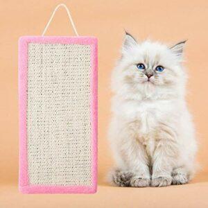 GOTOTOP Conseil à gratter pour Chat, Chaton Sisal Suspendu à gratter Chat Griffe meulage Scratch Pad Accessoire de Jouet pour Animaux(Rose)