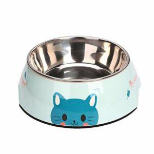 Keneke Gamelle amovible en acier inoxydable pour animal domestique, gamelle pour chien et chat – Diamètre : 12,5 cm