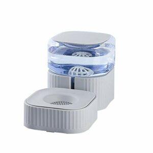 Lanhan Supplies Mangeoires automatiques pour chat avec distributeur d'eau pour chien/chat Gris 1,8 l