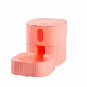 Lanhan Supplies Mangeoires automatiques pour chat avec distributeur d'eau pour chien/chat Rose 1,8 l