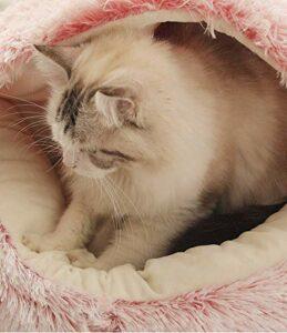 LUOWAN Cat Cave Cats House Lit pour chat Pet Pet Nest Sac de couchage 2 en 1 pliable Cuddle Cave (40 X 40 CM,C)