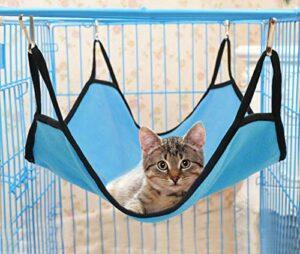 Oyccen 2PCS Hamac de Chat Doux Lit Suspendu Hamac de Cage Confortable pour Chaton Furet Lapin Petits Animaux
