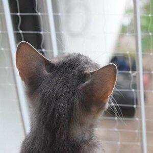Pet Prime Filet de sécurité pour Chat pour Balcon, escalier, Porte de fenêtre, Guide de sécurité pour Animaux domestiques Taille de sortue Invisible