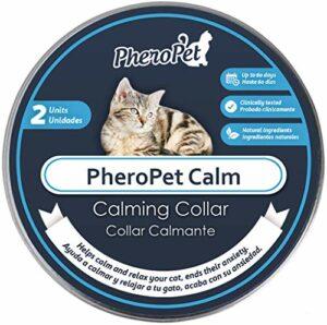 PheroPet Lot de 2 colliers apaisants pour chats – Feromones pour chats – Soulage l'anxiété, apaisant naturel
