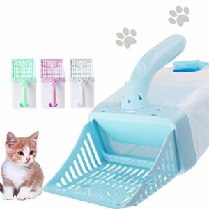 Qiekenao Kit de nettoyage pour litière de chat – Fournitures pour animaux domestiques – Pelle à litière pour chat