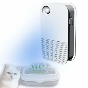 QJJML Désodorisant à L'ozone pour Litière pour Chat,Mini Purificateur d'air Réduit La Poussière De Litière pour Tous Les Types De Toilettes pour Chats,Toilettes pour Chiens, Voiture, Garde-Robe