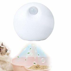 QJJML Mini Purificateur d'air Réduit pour Litière pour Chat,Désodorisant à L'ozone Désodorise La Poussière De Litière pour Tous Les Types De Toilettes pour Chats,Toilettes pour Chiens,Voiture