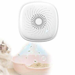 QJJML Purificateur d'air De Toilette,Désodorisant De Stérilisation à L'ozone pour Litière pour Chat,Déodorant sans Parfum avec 3 Modes De Travail Intelligents pour Bains,Litière pour Chat