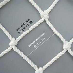 Queen.Y Filet de Sécurité pour Chat Clôture de Protection Anti-Chute pour Animaux de Compagnie en Polyester Blanc de Première Qualité pour Escaliers de Fenêtre de Balcon Résistant Aux