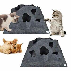 Ripple Rug Tapis d'activité pour chat avec base isolée thermiquement – Tapis de jeu pour animal de compagnie, amusant, interactif, résistant aux rayures, 100 x 100 cm