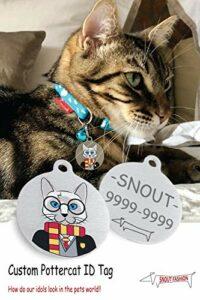 Snout Fashion Pottercat, en Acier Inoxydable pour Animaux de Compagnie – Harry Potter dans Le Monde des Chats