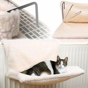 Stimo Hamac pour chat pour le chauffage (compatible avec tous les radiateurs courants) / lit / sac douillet.
