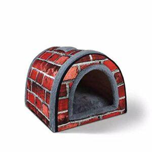 thematys La Grotte aux Chats I Lit pour Chat I Maison pour Chat Pliable I Grotte Transformable I Portable et résistant aux Rayures (Style 2, S (35 x 28 x 26 cm))