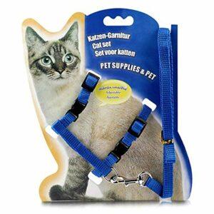 Yunnyp Collier pour chat, harnais et laisse pour chaton réglable