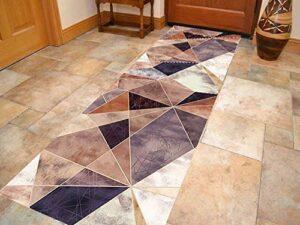 Reeseiy Tapis de couloir facile et long lavable chic largeur 50 cm 90 cm 110 cm disponible long personnalisable pour couloir (Taille : 1,1 fois 3 m) (couleur : couleur, taille unique : 1,1 x 7 m)