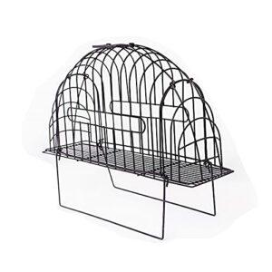 Cage de Fil d'acier de retenue de Bain de Chat, boîte de Coupe d'ongle d'animal familier, Cage de Chat de Kitty de Lavage de Porte Double Multifonction avec Support (Size : Small)