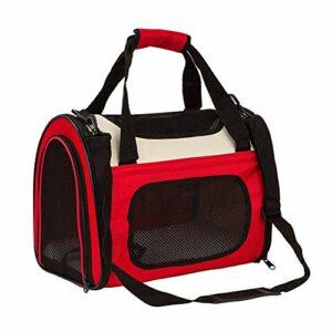 LEIJINGZI Featured Goods Sac à bandoulière for chiens de compagnie for chiens et chats, cage pliante portable for les trains de petits animaux, transport en voiture, 50 * 30 * 33 cm ( Color : Red )
