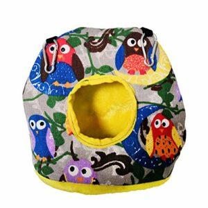 Zongha Cage Rat Hamac Chat Perruche Jouets Fournitures d'oiseaux Nid d'oiseau Suspendu Parrot Hamac Petit Lit pour Chien Pet Hamac Oiseau Hamac Owl,L