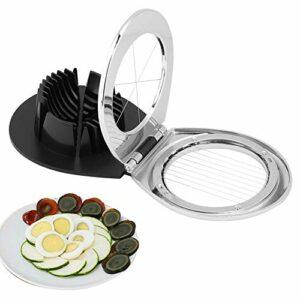 2 en 1 Egg Topper Cutter, Multifonctionnel Cuisine Egg Cutter Tranchage Trancheuse Outil Gadget Accessoire Séparateurs D'œufs