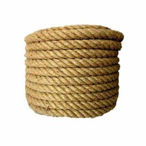 20mm 5-50m Jute corde de félin de corde naturel Cordon de chanvre de bricolage décor de chat chat animal de compagnie paillasse (Color : 20mmx3M)