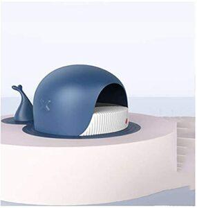 Balier de chat de baleine semi-fermé de chat de chat d'éclaboussure et de désodorisant chat toilettes portables PET Litter Boîte à capuche de chat à capuche Toilette à capuche Toilette clôturée Boîte