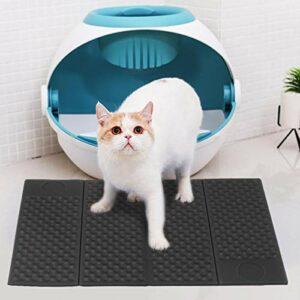 BOLORAMO Litière pour Chats Pliable Noir Mat pour Toutes Sortes d'animaux de Taille corporelle