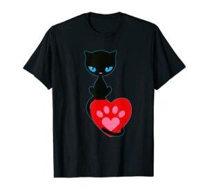 Cat kitten neko pussy kat katze chaton paw T-Shirt