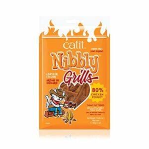 Catit Nibbly Grills Bandes à mâcher pour Chat en Filet de Poulet avec Homard 30 g
