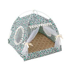 Domybest Tente pour Animaux de Compagnie Tente pour Chat Interieur Pliable Lit de Chat Durable Respirant Niche Chat Maison de Chat d'été