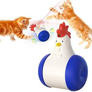 EIU Jouet Laser Cat, Jouets Interactifs pour Chats D'intérieur Swing Cat Swing Cat Cat Toy USB Rechargeable avec Outil D'entraînement pour Chasseurs d'animaux Infrarouges(Color:Bleu foncé)