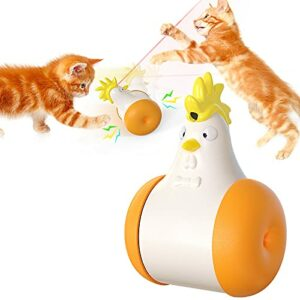 EIU Jouet Laser Cat, Jouets Interactifs pour Chats D'intérieur Swing Cat Swing Cat Cat Toy USB Rechargeable avec Outil D'entraînement pour Chasseurs d'animaux Infrarouges(Color:Orange)
