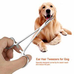 Eulbevoli Pince à épiler portative d'oreille de Chat de toilettage à la Maison de Nettoyage d'oreille de Chat(Small)