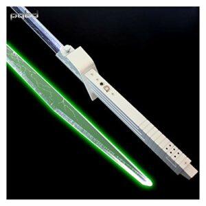 HUKN Sabre Laser foc Engrais Sombre Vizsla épéeau Lumineux Lame mandalorienne de Lame personnalisée Laser Sabre Lampe de Poche FX Force Cosplay Cadeaux (Color : FOC Green Light)