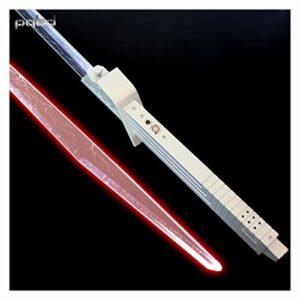 HUKN Sabre Laser foc Engrais Sombre Vizsla épéeau Lumineux Lame mandalorienne de Lame personnalisée Laser Sabre Lampe de Poche FX Force Cosplay Cadeaux (Color : FOC Red Light)