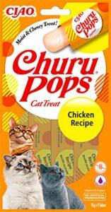 INABA Churu Pops – Friandises à Main pour Chats – Délicieux, Savoureux Snacks pour Chats – Poulet